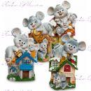 Копилка символ года ''Мышки в домике''Копилка символ года ''Мышки в домике''