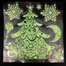 Набор новогодних наклеек Merry Christmas, 30х40 см, Новогодняя Елка