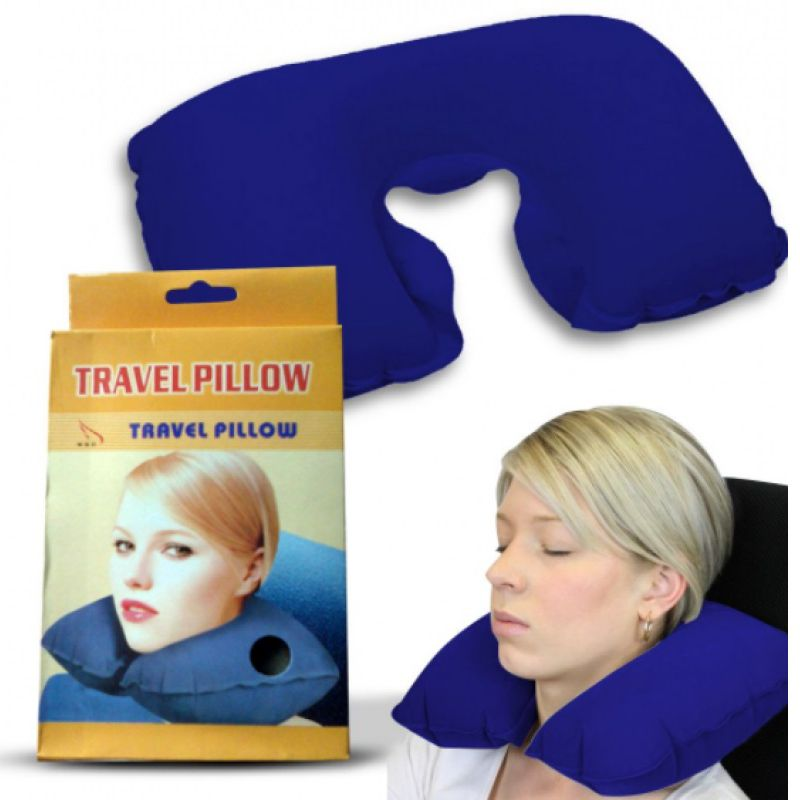 Подушка Для Путешествий Travel Pillow (Тревел Пиллоу), Цвет Синий