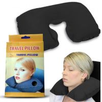 Подушка для путешествий TRAVEL PILLOW (Тревел Пиллоу), цвет черный