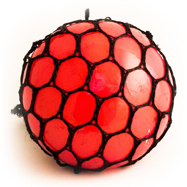 Игрушка-мялка Шарик малый красный
