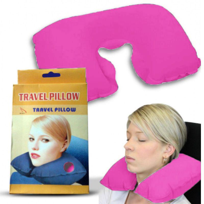 Подушка Для Путешествий Travel Pillow (Тревел Пиллоу), Цвет Розовый