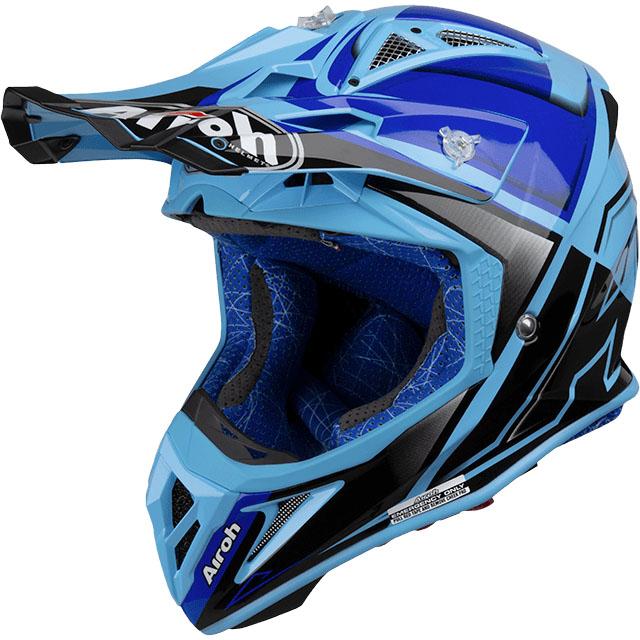 Airoh - Aviator 2.2 Check Blue Gloss шлем