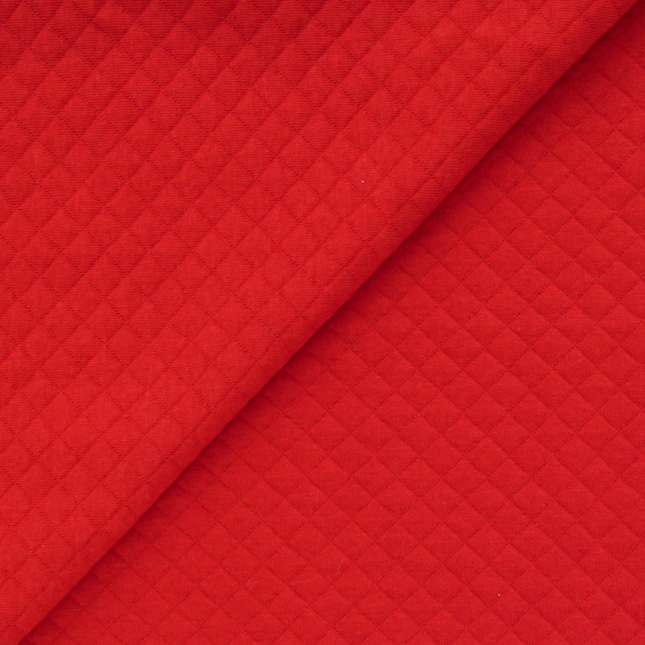 Лоскут трикотажной Стежка -  красный