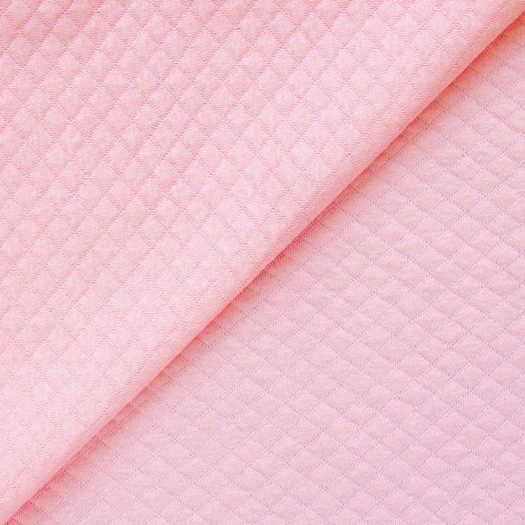 Лоскут трикотажной ткани Капитоне стёганный -  нежно-розовый