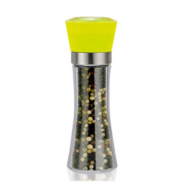 Стеклянная Мельница Для Специй, 19х6.5 См, Цвет Желтый