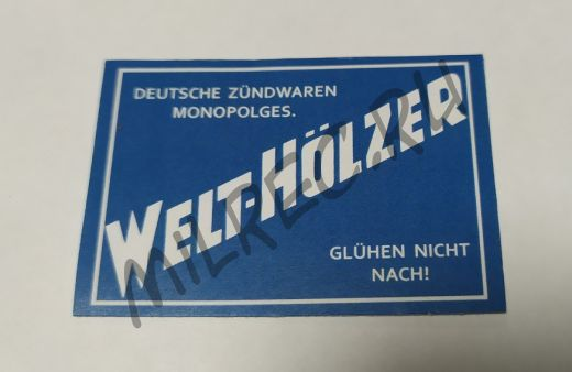 """Этикетки на немецкие спички """"Welt-Hölzer"""" (реплика), 2 шт. в комплекте"""