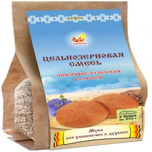 Смесь пшенично-ржано-отрубная ц/з со льном, 700 гр