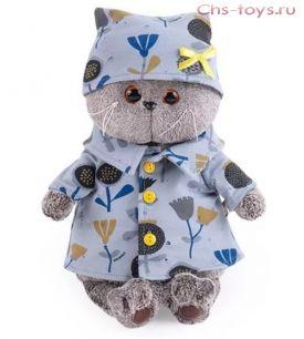 Басик в голубой пижаме в цветочек