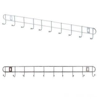 Металлическая вешалка-планка с крючками Hanger, 53 см, 10 крючков