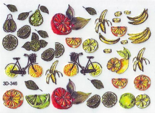 3D Слайдер-дизайн 3D 346 фрукты