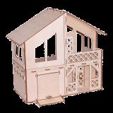 """Кукольный домик """"Дачный домик с гаражом"""""""