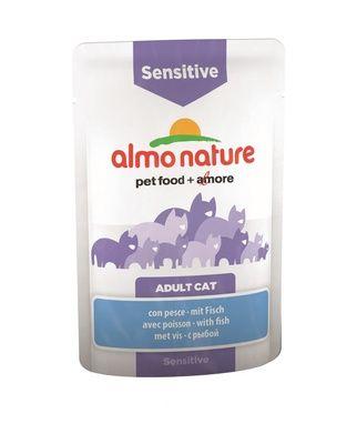 Almo Nature Паучи с рыбой для кошек для улучшения работы кишечника (Functional - Sensitive with Fish) 70 гр.