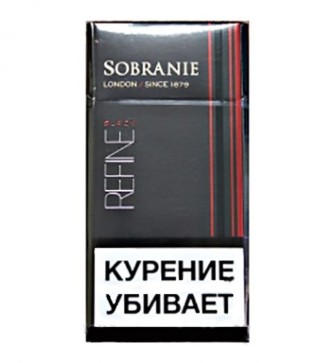 Сигареты Sobranie Refine Black