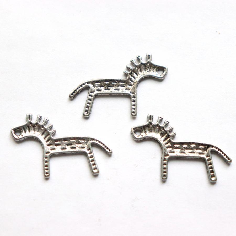 Подвески металлические, лошадка, 20 мм, тибет.серебро, 10 шт/упак