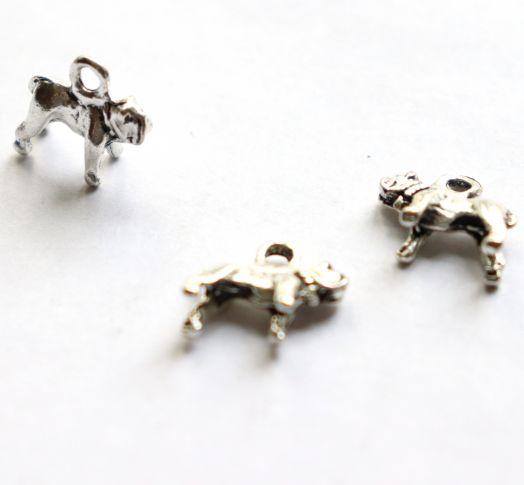 Подвески металлические, Шарпей, 15 мм, тибет.серебро, 4 шт/упак