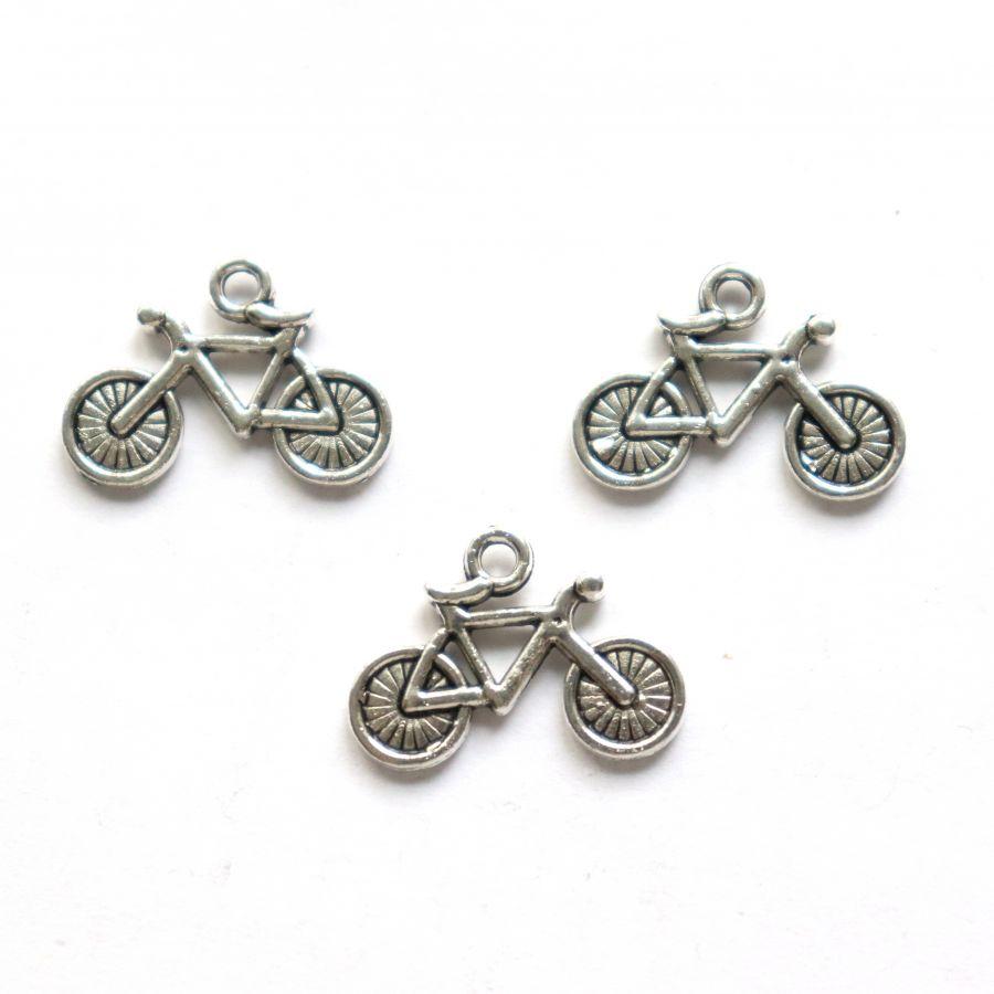 Подвески металлические, Велосипед, 20*10 мм, тибет.серебро, 4 шт/упак