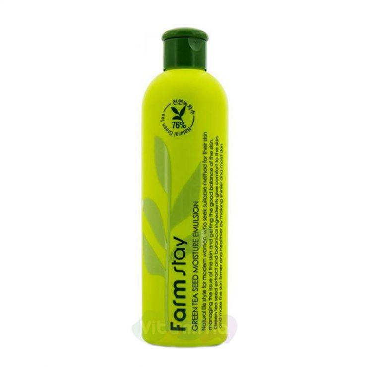 FarmStay Увлажняющая эмульсия с семенами зеленого чая Green Tea Seed Moisture Emulsion, 300 мл