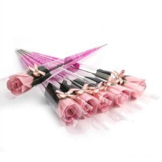 Роза из парфюмированного мыла I Love You, 40 см, Розовый