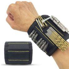 Строительный магнитный браслет Magnetic Wristband (5 магнитов), Чёрный