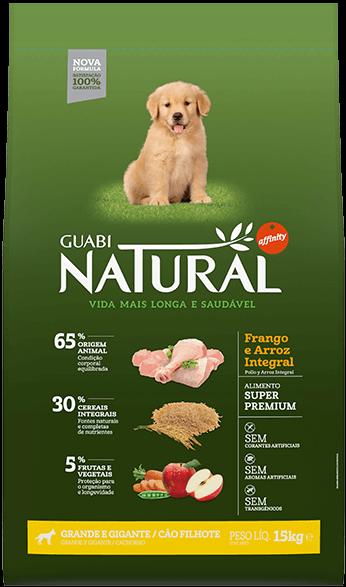 Guabi Natural для щенков крупных и гигантских пород 15 кг