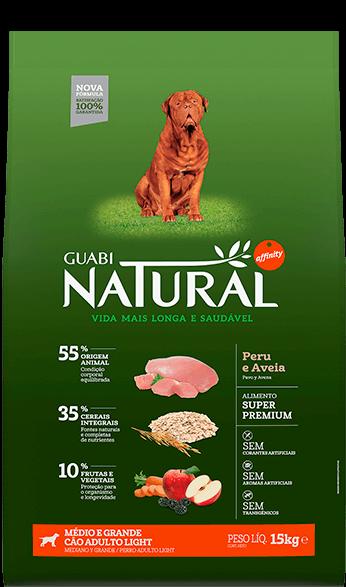 Guabi Natural облегченный для собак средних и крупных пород Индейка + овес 15 кг