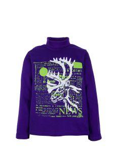 SM272 Водолазка для мальчика Сладикмладик фиолетовая с оленем
