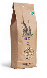 """""""Чёрный хлеб"""" Овес  БИО, пакет 0,75 кг"""