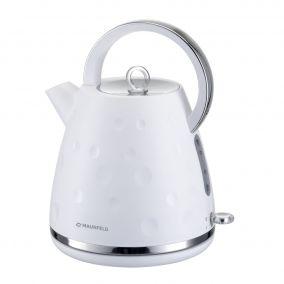 Чайник MAUNFELD MFK-647WH белый с хромированными элементами