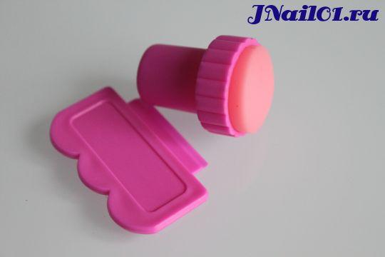 Набор для стемпинга розовый