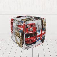 Пуфик-кубик Лондон Бус