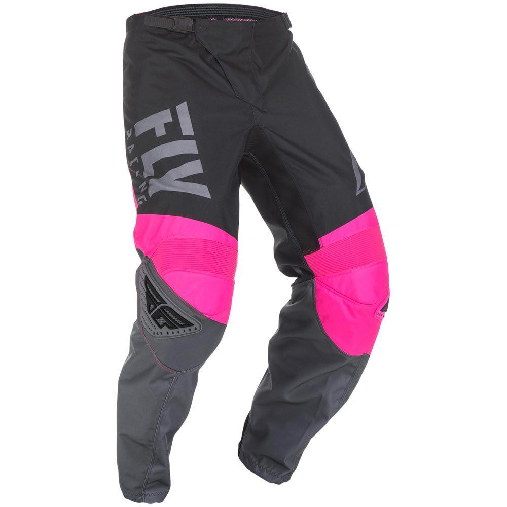 Fly Racing - 2019 F-16 Neon Pink/Black/Grey штаны, розово-черно-серые