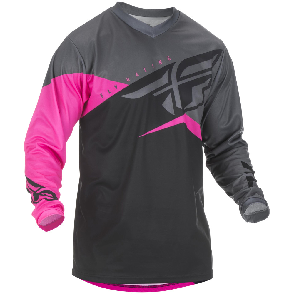 Fly Racing - 2019 F-16 Neon Pink/Black/Grey джерси, розово-черно-серое