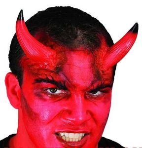 Рога дьявола красно-черные