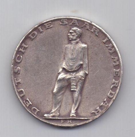 медаль 1935 года Присоединение Саара к Германии
