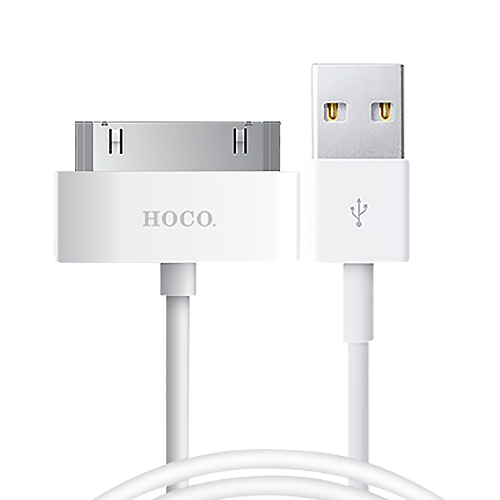 Кабель USB-Iphone 4 Hoco X1 Rapid, белый