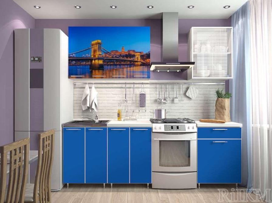 Кухня ЛДСП 1,8 м с фотопечатью