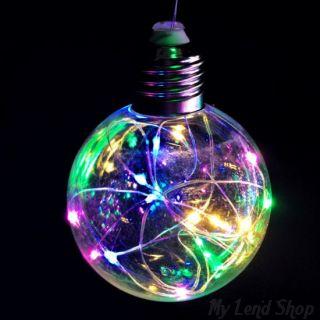 Ретро-лампа со светодиодной нитью, 8 см, 1 шт, Цвет света: Разноцветный