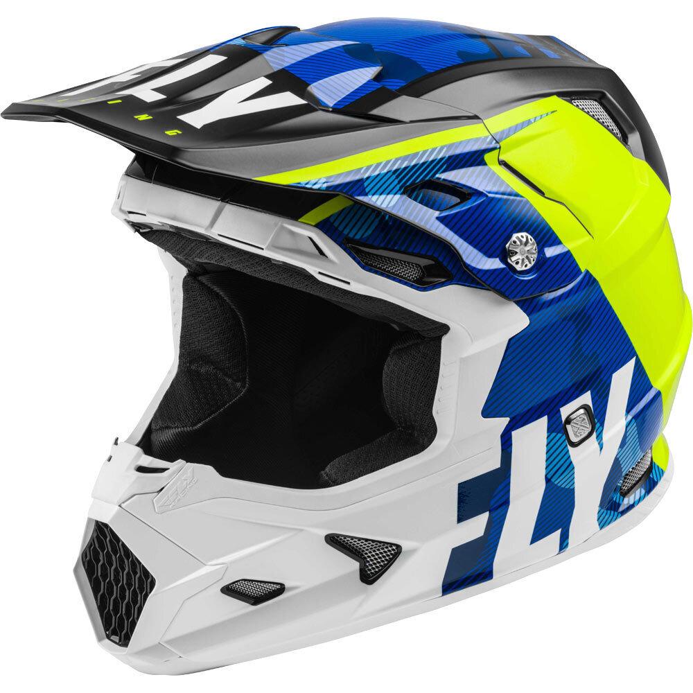 Fly Racing - 2020 Toxin Mips Transfer шлем, сине-желто-белый