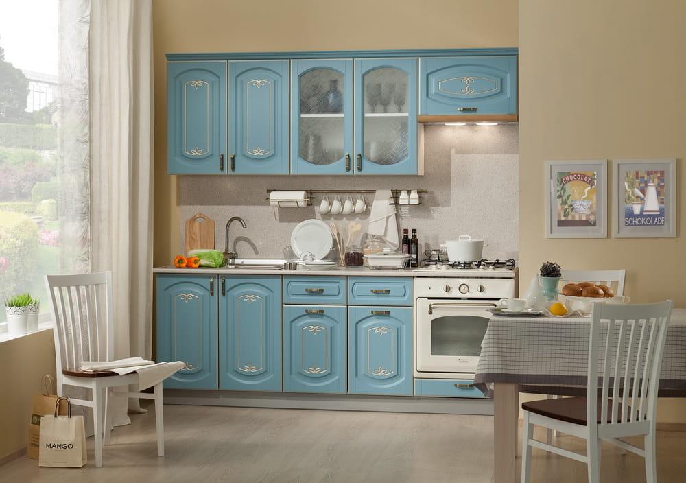Кухня Бергамо МДФ с крашенными фасадами