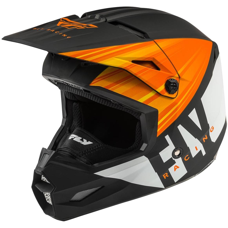 Fly Racing - 2020 Kinetic K220 шлем, оранжево-черно-белый матовый