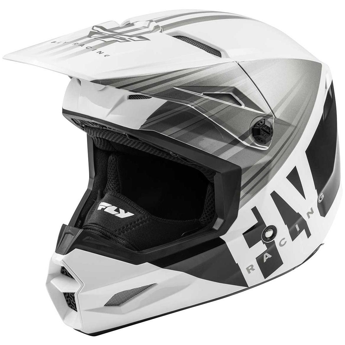 Fly Racing - 2020 Kinetic K220 шлем, бело-серо-черный