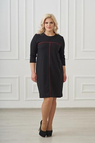 Платье арт.0121-11 черное, милано