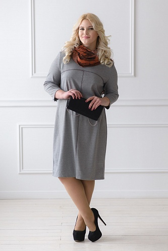 Платье арт.0121 серое, милано