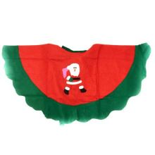 Детское новогоднее пончо с аппликацией Дед мороз