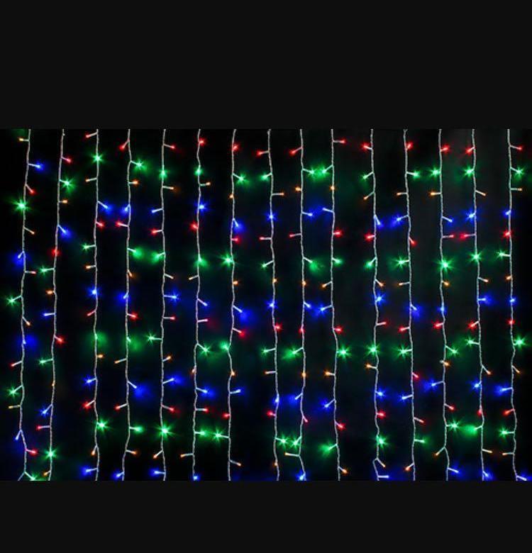Светодиодная гирлянда Шторка 320 LED, цвет разноцветный