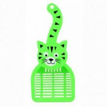 Совок для уборки кошачьего туалета (лотка), 28х12.5 см, Зелёный