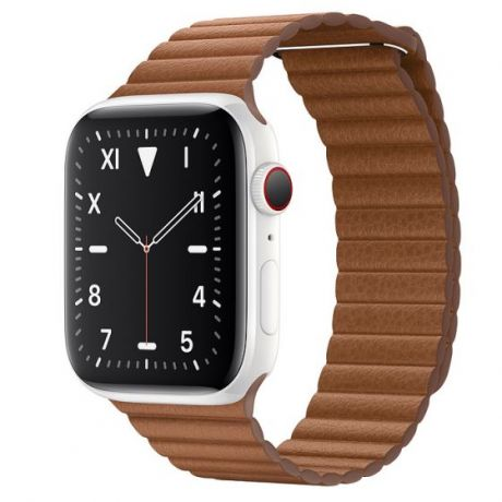Apple Watch Edition Series 5 White Ceramic Case 44mm GPS + Cellular Saddle/Brown with Leather Loop