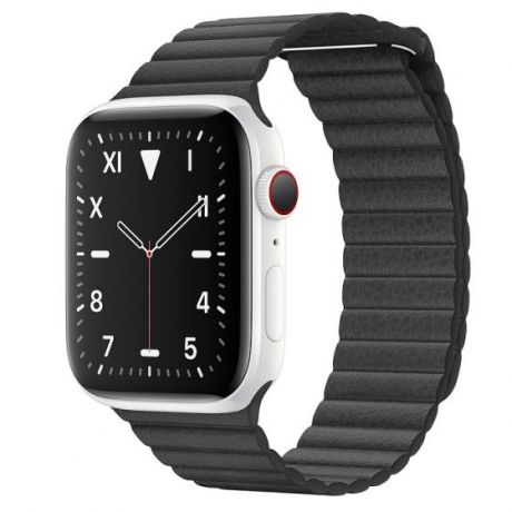 Apple Watch Edition Series 5 White Ceramic Case 44mm GPS + Cellular Black with Leather Loop