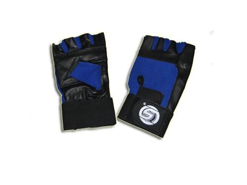 Перчатки для тяжёлой атлетики с узким напульсником. Материал: кожа, ткань. Размер S. 16305